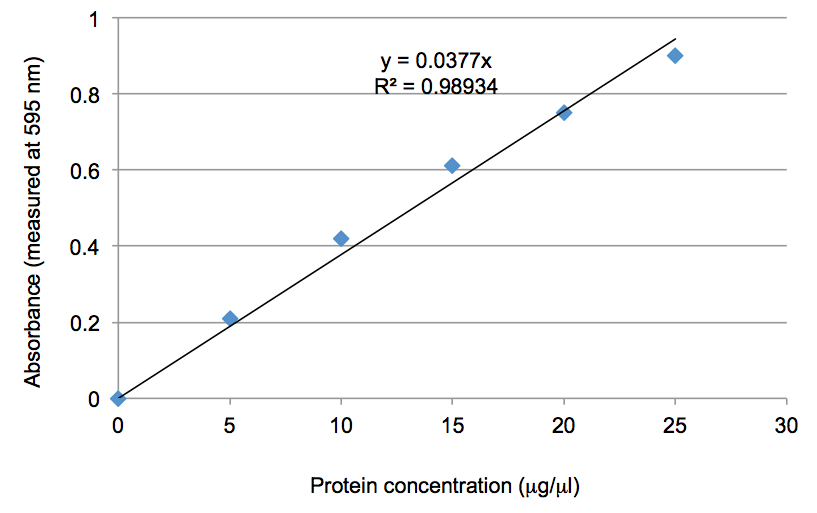 construction of a standard curve for the determination of protein Thermo scientific pierce protein assays provide a wide range of options for accurate protein concentration determination based on assay time, sensitivity, compatibility, standard curve linearity, and protein-to-protein variation.