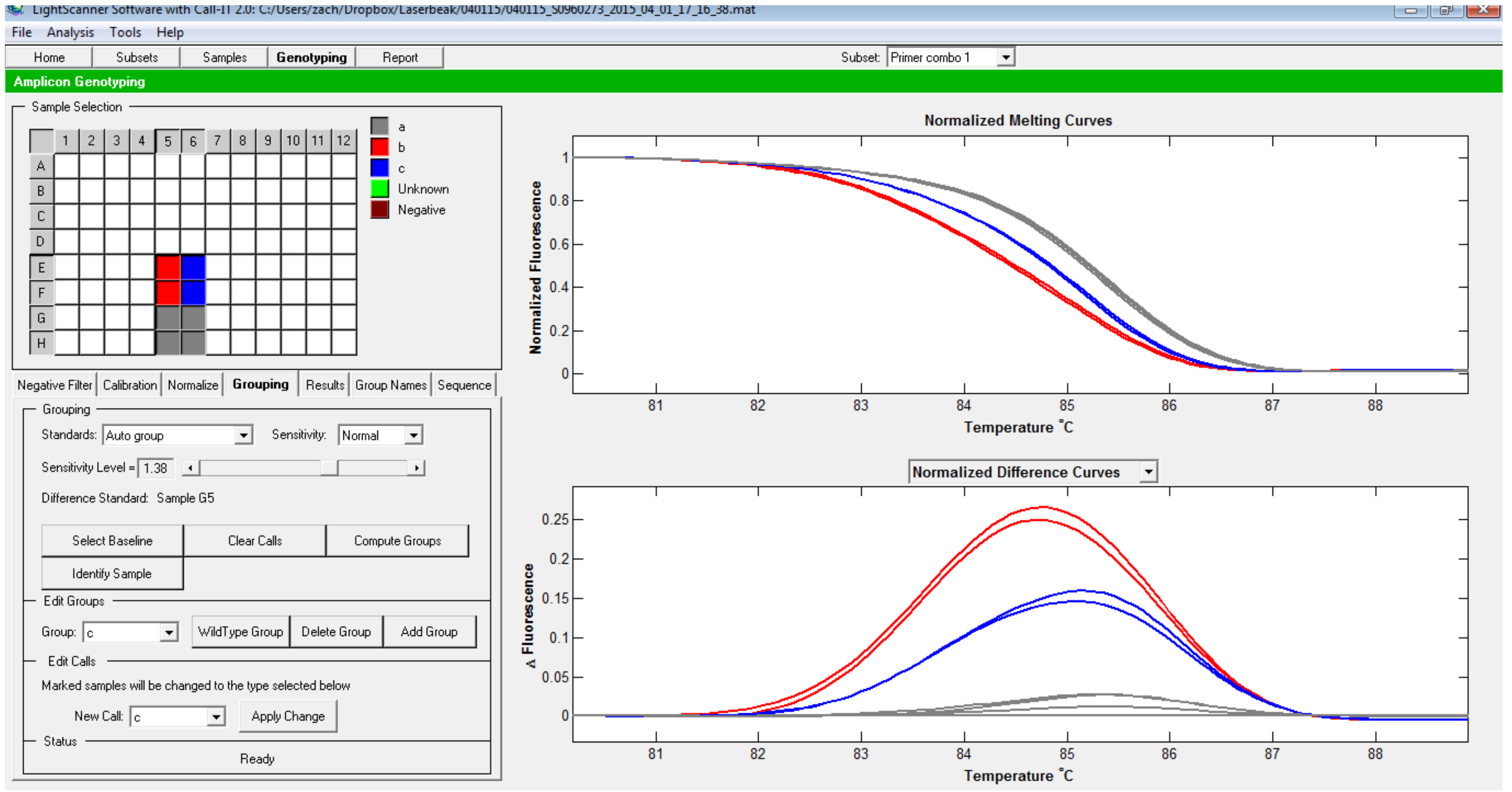 High Resolution Melting Temperature Analysis to Identify