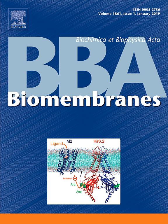 Biochimica et Biophysica Acta (BBA) - Biomembranes